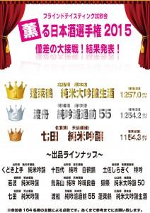 オンライン用薫る日本酒選手権2015結果